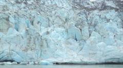 View of Margerie Glacier at Glacier Bay National Park, Alaska Stock Footage