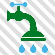 Shower Tap Vector Icon Stock Illustration