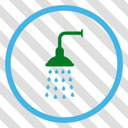 Shower Vector Icon Stock Illustration