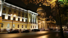 St. Isaac's (Isaakievsky) Cathedral  St. Petersburg, Russia. Stock Footage