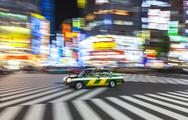 Motion Blurred on Crossing, Shibuya, Tokyo, Japan Stock Photos