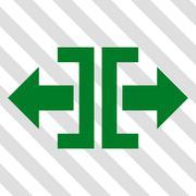 Divide Horizontal Direction Vector Icon Stock Illustration