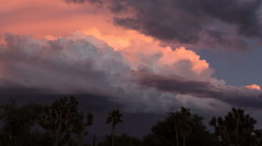 HD 24p colorful thunderhead sunset time lapse Stock Footage