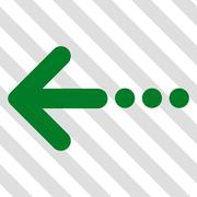 Send Left Vector Icon Stock Illustration