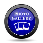 Photo gallery icon. Internet button on white background.. Piirros