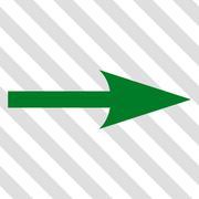 Sharp Arrow Right Vector Icon Stock Illustration