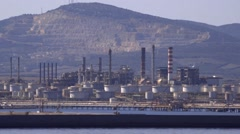 Stranded assets - unburnable carbon - idle oil & mine infrastructure Stock Footage