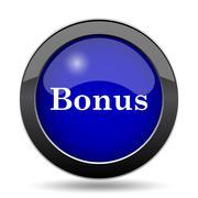 Bonus icon. Internet button on white background.. Stock Illustration