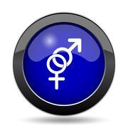 Sex icon. Internet button on white background.. Stock Illustration