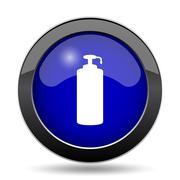 Soap icon. Internet button on white background.. Stock Illustration