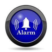 Alarm icon. Internet button on white background.. Stock Illustration