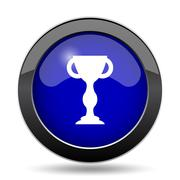 Winners cup icon. Internet button on white background.. Stock Illustration