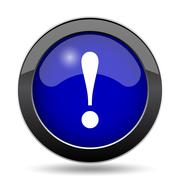 Attention icon. Internet button on white background.. Stock Illustration