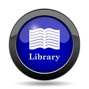 Library icon. Internet button on white background.. Stock Illustration