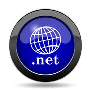.net icon. Internet button on white background.. Stock Illustration
