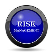 Risk management icon. Internet button on white background.. Stock Illustration