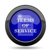Terms of service icon. Internet button on white background.. Stock Illustration