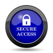 Secure access icon. Internet button on white background.. Stock Illustration