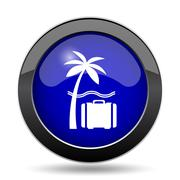 Travel icon. Internet button on white background.. Stock Illustration