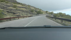 POV driving on Mount Etna in Sicily, Italy. Stock Footage