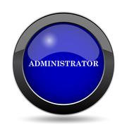 Administrator icon. Internet button on white background.. Stock Illustration