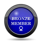 Bronze member icon. Internet button on white background.. Stock Illustration