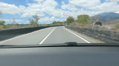POV driving towards Mount Etna in Sicily, Italy. Stock Footage