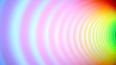 Inside of multicolor spring tunnel moving side to side out of frame Stock Footage