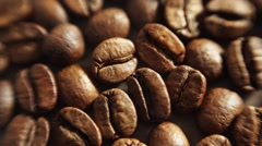 Coffee beans with smoke Stock Footage