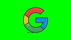 8k - Cartoon Google icon logo symbol, on green screen Stock Footage