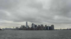 Lower Manhattan Upper Bay (time lapse) Stock Footage