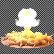 Vector Illustration of a mushroom cloud following  nuclear explosion on Stock Illustration
