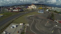 Sochi Park aerial Stock Footage
