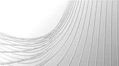 Curved vector lines white background Stock Footage