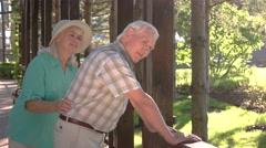 Old man has backache. Stock Footage