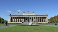 The Altes Museum Stock Footage