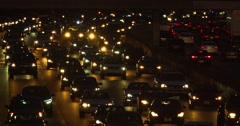 Traffic jam congestion during rush hour on California Freeway in Los Angeles 4K Stock Footage