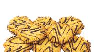 Pile of cookies isolated over the white background Stock Photos