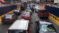 Vehicles stuck in rush hour traffic jam at Kuala Lumpur  Stock Footage