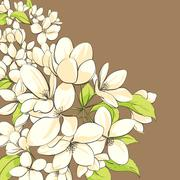 Apple tree floral background Stock Illustration