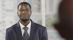 Businessman talking business Stock Footage