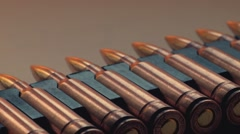 Ammo for snipers Stock Footage