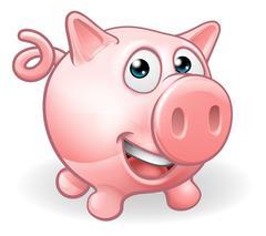 Cartoon Cute Pig Farm Animal Stock Illustration