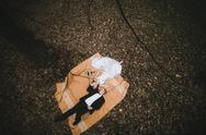 Couple lying down Stock Photos