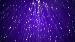 Sparkling Light Particles Falling Against a Purple Background Stock Footage