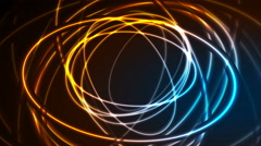 Glowing neon ellipses, bright traces video animation Stock Footage