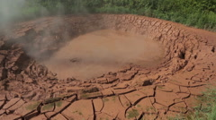 Mud pots in Valley of Geysers Stock Footage