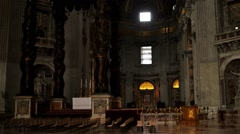 Papal Basilica of St. Peter in Vatican, Rome, Italy Stock Footage