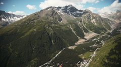 Mount Elbrus in the Caucasus, aerial shot Stock Footage