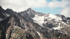 Mount Elbrus, aerial shot Stock Footage